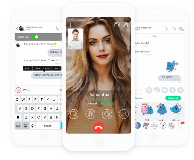 ringID: Free Video Calls, Secret Chats, Feeds, Stickers & more